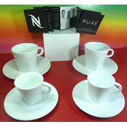 Nespresso Pure Collection - Комплект чаши за дълго и еспресо кафе 4 бр.